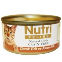 Nutri Feline Tahılsız Tavuk Etli Kuzulu Kedi Konservesi 80 gr