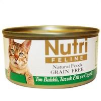 Nutri Feline Tahılsız Ton Balık Tavuk Ciğerli Kedi Konservesi 80 gr