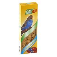 Mavi Yeşil Meyveli Muhabbet Kuşu Krakeri 3'lü