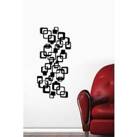 Özgül Grup Özgül Grup İç İçe Kareler Duvar Sticker 23x48 cm