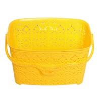 Atadan Sarı Dantel Mandal Sepeti BLL