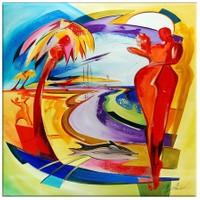 Arte Sahilde Dans Kanvas Tablo