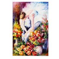 Arte Arte Güller Ve Balerin Kanvas Tablo 40x60 cm