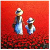 Arte Kırmızı Gelincikler Kanvas Tablo