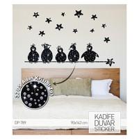 Artikel Karga Ailesi Kadife Duvar Sticker 90x143 cm 3705 Adet Kristal Taşlı DP 789