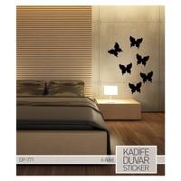 Artikel Kelebekler Kadife Duvar Sticker 6 Adet DP 771