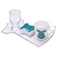 Biev Kaftan Tek Kişilik Kahve Servis Seti Yeşil