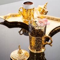 Sena Keyfi Kaftan Kahve Takımı Tek Kişilik H 18