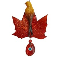 Miss Gaya Kırmızı Renkli Yaprak Kuş Nazarlık