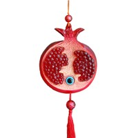 Miss Gaya Kırmızı Renkli Askılı Nar Nazarlık Set