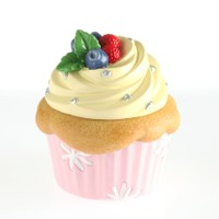 Kanca Ev Toz Pembe Mini Kutu Cup Cake Sarı Kremalı