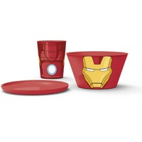 Iron Man 3'lü Beslenme Seti - Plastik