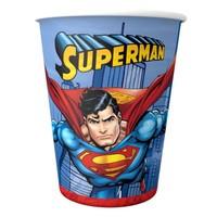 Superman Bardak - Karton 8'li
