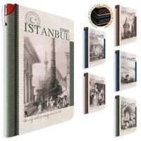 Gıpta İstanbul Retro İplik Dikişli Sert Kapak Defter 13x21 Çizgili 96yp 2320