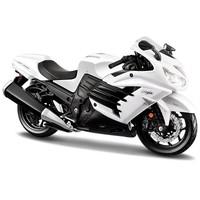 Maisto 1:12 Kawasaki Ninja ZX-14 R Beyaz Model Motosiklet