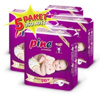 Pine Bebek Bezi 5'li Paket 2 Beden 350 Adet