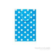 Kullanatmarket Mavi Puantiyeli Büyük Karton Çanta 25 Adet