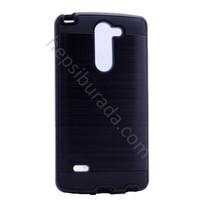 Case 4U LG G3 Stylus Korumalı Kapak Siyah