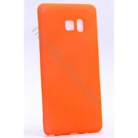 Case 4U Samsung Galaxy Note FE / Note 7 Premier İnce Silikon Kılıf Turuncu
