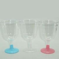 Tahtakale Toptancısı Plastik Şarap Bardağı Renkli Ayaklı (6 Adet)
