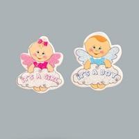 Tahtakale Toptancısı Sticker Bebek Bulutlu Melek Karton (50 Adet)