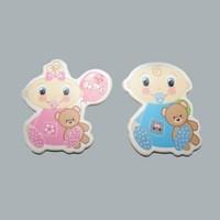 Tahtakale Toptancısı Sticker Bebek Ayıcıklı Oturan Karton (50 Adet)
