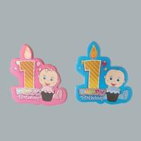 Tahtakale Toptancısı Sticker 1 Yaş Hapy Birthday Mumlu (50 Adet)