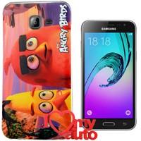 CoverZone Samsung Galaxy A7 Kılıf 2016 A710 Angry Birds and Chuck + 3d Araç Kokusu