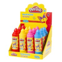 Play-Doh 12 Renk Keçeli Kalem 5Mm Plastik Tüp PLAY-KE012