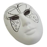 Bu-Bu Seramik Maske Seti Kelebek Desenli Bs305 BUBU-MS0001