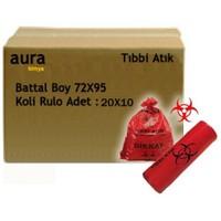 Arslan Plastik Tıbbi Atık Çöp Torbası 75*90 Battal - 100 Adet