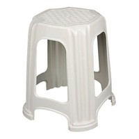 Elif Plastik Plastik Büyük Tabure Beyaz 5'Li Takım