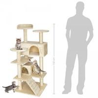 132Cm Lüks Kedi Tırmalama Ve Aktivite Merkezi-Kahverengi
