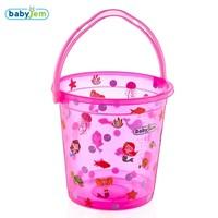 Babyjem Desenli Bebek Banyo Kovası Pembe