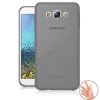 Teknomeg Samsung Galaxy E5 Füme Silikon Kılıf