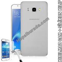 Teknomeg Samsung Galaxy J7 2016 Şeffaf Silikon Kılıf + Temperli Kırılmaz Cam