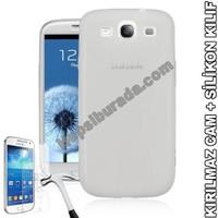Teknomeg Samsung Galaxy S3 Şeffaf Silikon Kılıf + Temperli Kırılmaz Cam