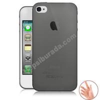 Teknomeg Apple İphone 4S Füme Silikon Kılıf