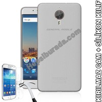 Teknomeg General Mobile Android One Gm5 Plus Şeffaf Silikon Kılıf + Temperli Kırılmaz Cam