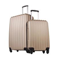 Ground 2'Li Valiz Büyük Ve Kabin Boy Bavul Altın 10522