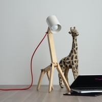 İki Lob Zürafa Formunda Masa Lambası