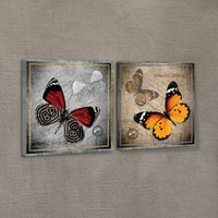 Artikel Butterfly 2 Parça Kanvas Tablo