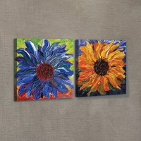 Artikel Impressive Flowers 2 Parça Kanvas Tablo