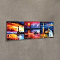 Artikel Moonlit Sky 3 Parça Kanvas Tablo 40X120 Cm