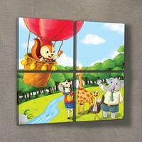 Artikel Cartoon 4 Parça Kanvas Tablo 70X70 Cm