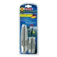 Lampa X-Type Gümüş/Krom Kendinden Yapışkanlı Darbe Koruyucu