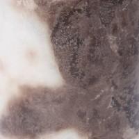 Marble Silindir Mum Kahverengi Beyaz Renk 7,5X13 Cm