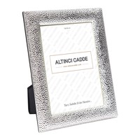 Dekoratif Parlak Gümüş Rengi Çerçeve 13x18 Cm