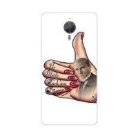 Bordo General Mobile Discovery 4G Android One Kapak Kılıf Atatürk Baskılı Silikon