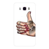 Bordo Samsung Galaxy j7 2016 Kapak Kılıf Atatürk Baskılı Silikon